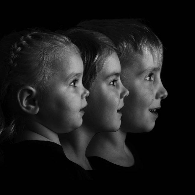 Kids foto low key lichterkopie